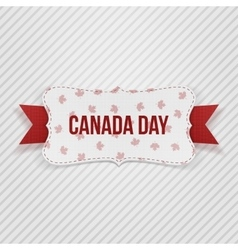 Canada day realistic national tag vector