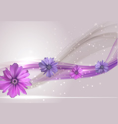 Abstract anemone flower realistic frame vector