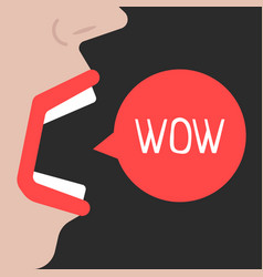 Abstract woman speaks wow vector