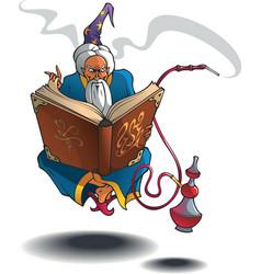 Arabian wizard vector