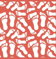 Baby feet background vector