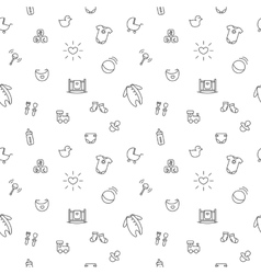 baby or pregnancy seamless pattern Newborn vector image vector image