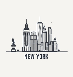 Balck and white lines new york copy vector