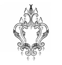 Baroque classic chandelier vector