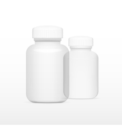 Blank White And Glass Medicine Bottle vector image vector image