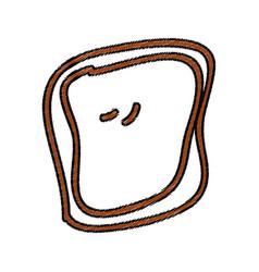 Bread slice isolated icon vector