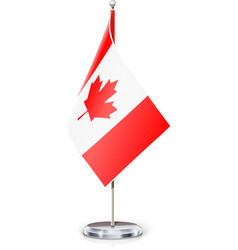 Canadian flag on flagstaff vector image
