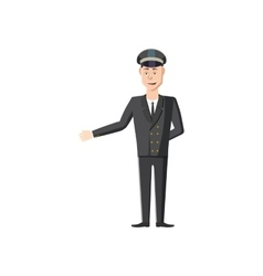 Chauffeur icon in cartoon style vector image