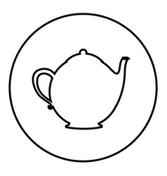 figure emblem teapot icon vector image
