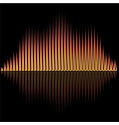 Flame flare equalizer bars on black background vector