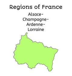 France administrative map of achardlor vector