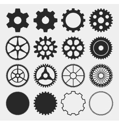 gear silhouettes vector image vector image