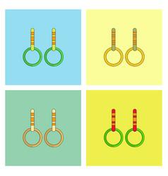 Gymnastics rings collection vector