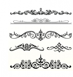 Header ornament vector