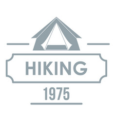 hiking logo vintage style vector image vector image