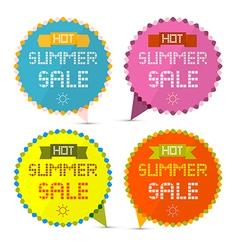 Hot Summer Sale Paper Retro Labels Set vector image vector image