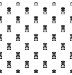 Hotel building pattern simple style vector image