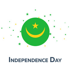 Independence day of mauritania patriotic banner vector