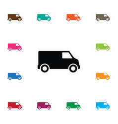isolated lorry icon carriage element can vector image