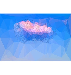 Low polygonal blue sky background vector image vector image