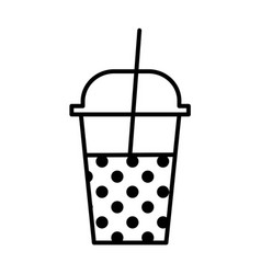 Milkshake outline icon vector