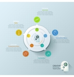 Modern infographics options banner with 5-options vector image vector image