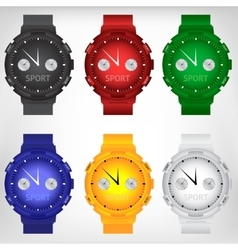 modern wristwatch vector image