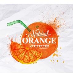 Poster watermelon orange vector