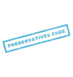 Preservatives free rubber stamp vector