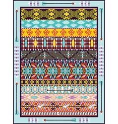 Seamless colorful geometric tribal vector