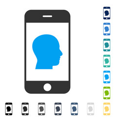Smartphone contact human portrait icon vector