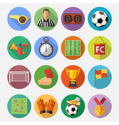 Soccer flat icon set vector