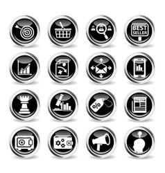 Marketing icon set vector