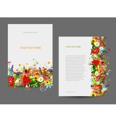 Paper template floral design vector