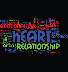 From heart issues to heart attacks text vector
