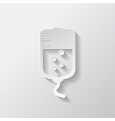 Medical dropper web icon vector