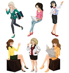 Busy women vector image