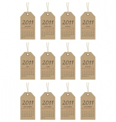 Calender tags for 2011 vector
