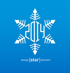 Original snowflake with new year date vector
