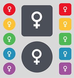 Symbols gender female woman sex icon sign a set of vector