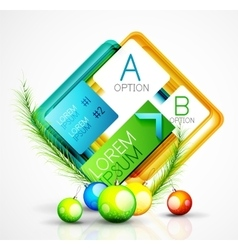 Abstract web message box with christmas decoration vector