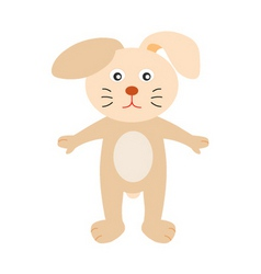 A cute s bunny cartoon vector