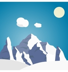 Mountain landscape in the summer vector
