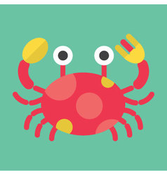 Crab icon  animal vector
