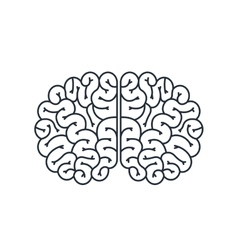 Brain human isolated icon design vector
