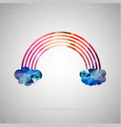 Abstract creative concept icon of rainbow vector
