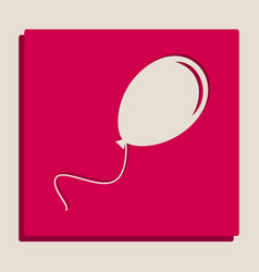 Balloon sign grayscale vector