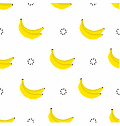 banana seamless pattern bananas with circles in vector image