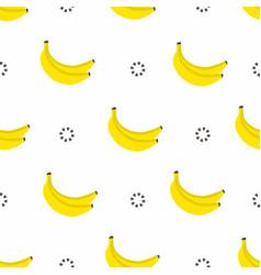 banana seamless pattern bananas with circles in vector image vector image