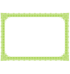 Classic green outline style border vector